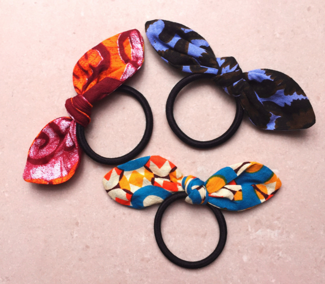 Three Fabric Bow Hairbands