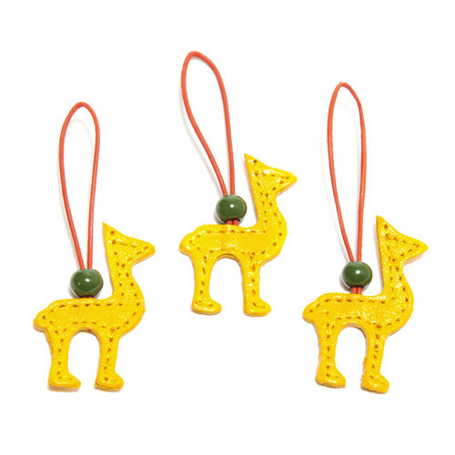 Leather Llama Ornaments