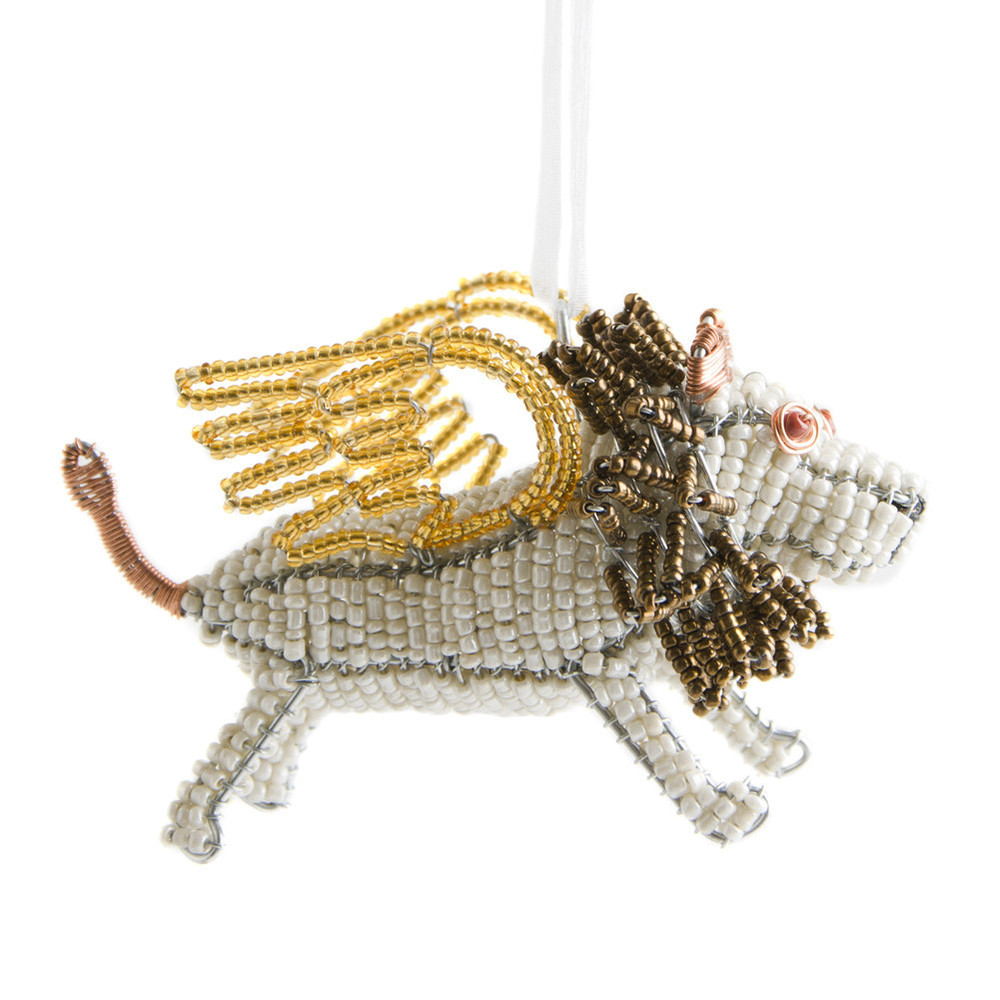 Beaded Flying Lion Ornament