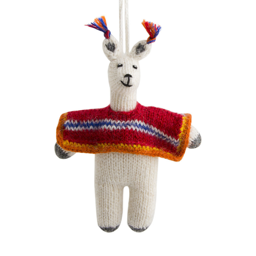 Llama with Poncho