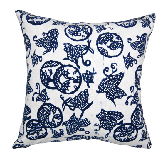 Indigo American Lady Pillow