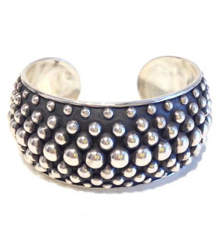 Multi-row Silver Dots Cuff