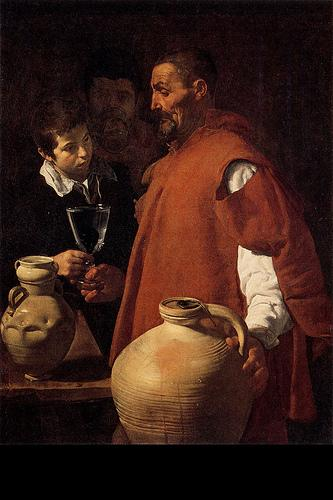 Figure 1     Diego Rodriguez De Silva Y Vel  á  zquez        The Waterseller,    c. 1620    Oil on canvas, 42 x 32 ¼ inches    London, Wellington Museum, Apsley House
