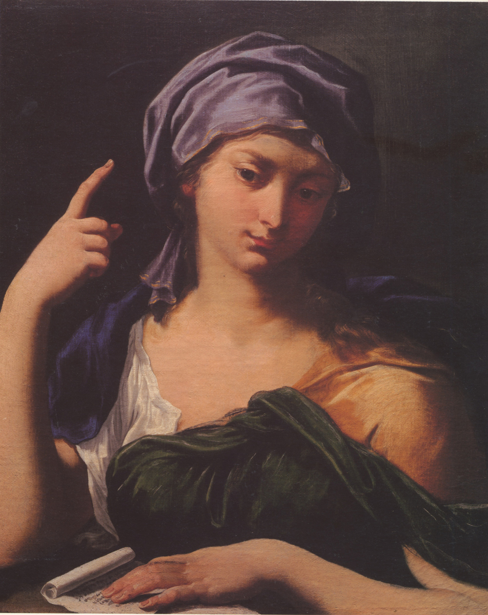Figure 2 Sibyl Oil on canvas, 57.5 x 48 cm Bologna, private collection (Baroncini, plate II)