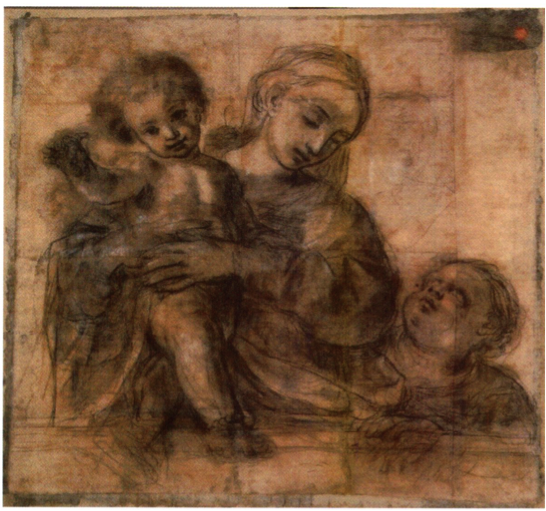 Figure 3 Cristoforo Savolini, Madonna and Child with the Infant St. John the Baptist, Milan, Accademia di Belle Arti di Brera