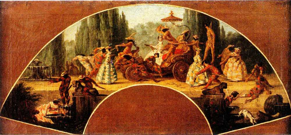 Figure 1   Maria Felice Subleyras-Tibaldi (Rome 1707 - 1770)     Le Triomphe d'Arlequin     24 x 51 cm