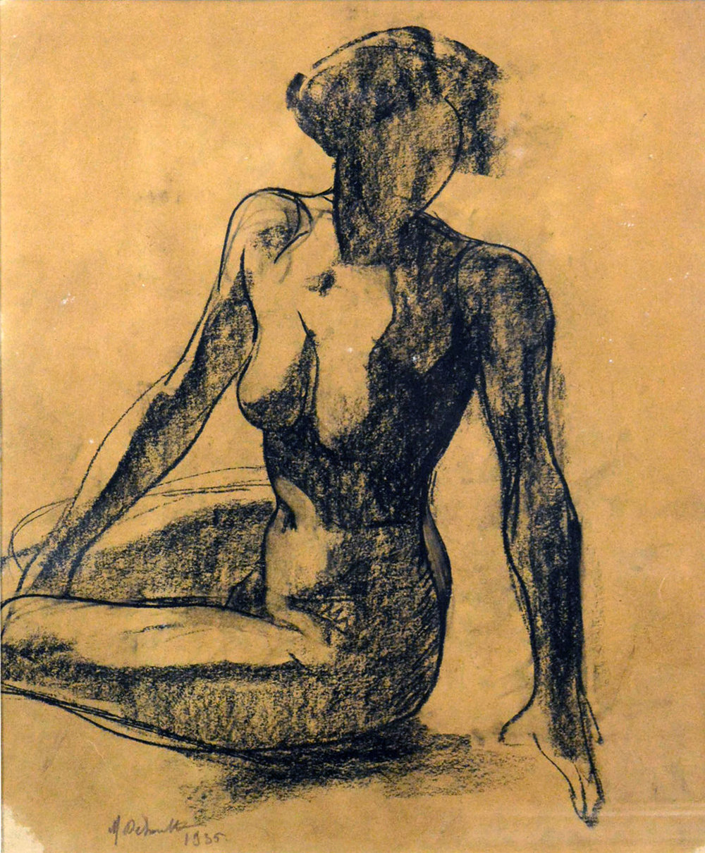 Marcel Delmotte (1902 - 1984), Seated Nude