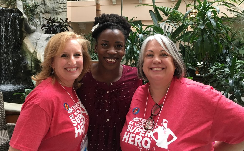 Left to right: Marti Rule, Hivery concierge and co-chair Marin Teen Girl Conference with Alysia Montano, keynote speaker and local Olympic sprinter, and Kris Cirby, co-chair Marin Teen Girl Conference.