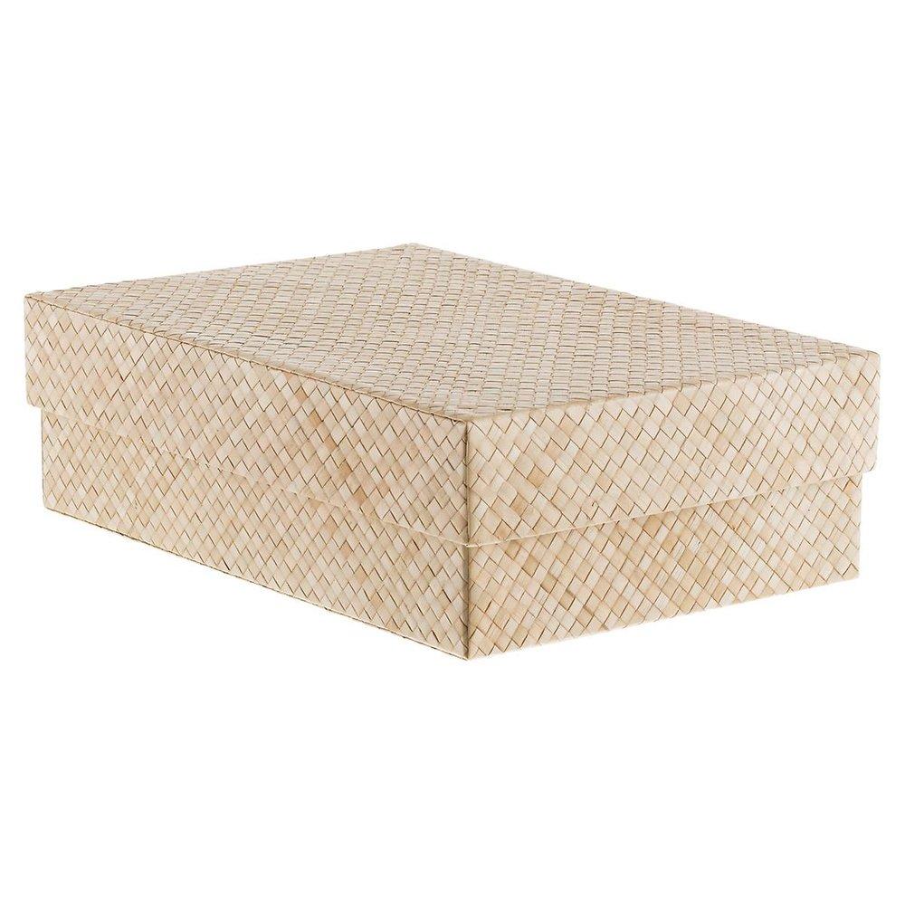 """Natural Pandan Shirt Box   16-1/2"""" x 11-1/4"""" x 5-1/8"""" h"""