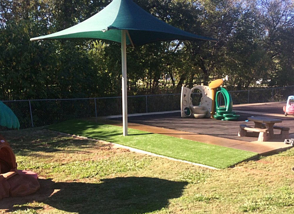 Synthetic turf installation at Early Head Start