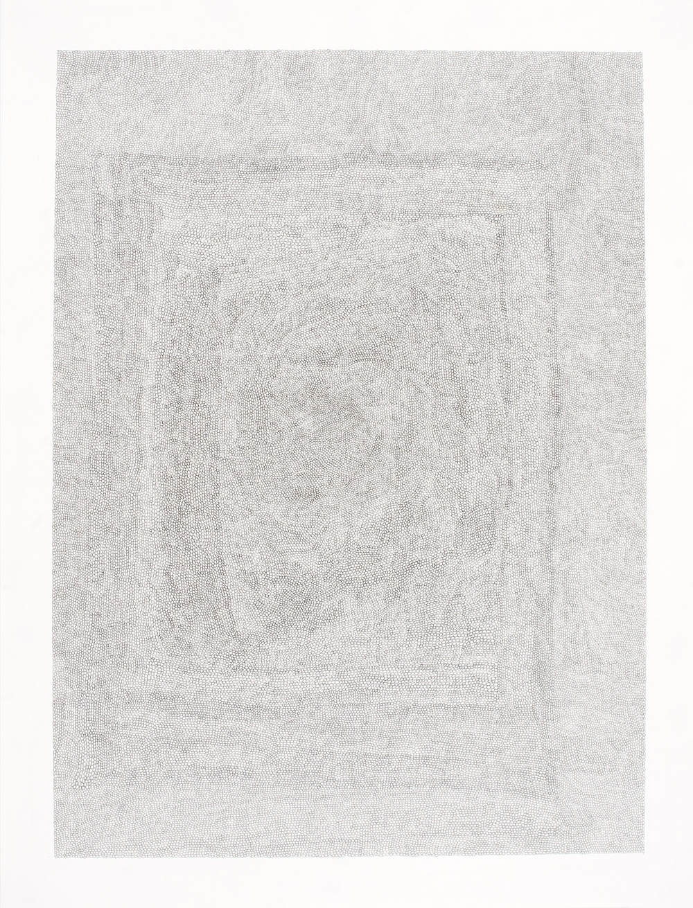 Circle Within Large Rectangle, 2007 50 by 38 inches Graphite on paper