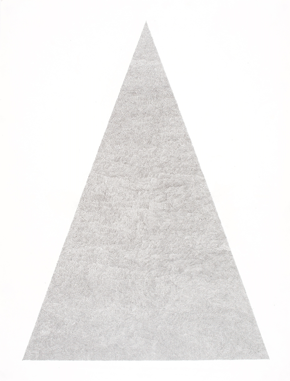 Circle Within Large Triangle, 2007 50 by 38 inches Graphite on paper