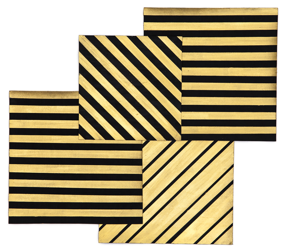 Gold Diagonals and Horizontal, 2015