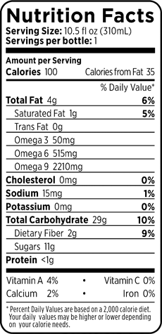 100 Açaí Berry Nutrition Facts