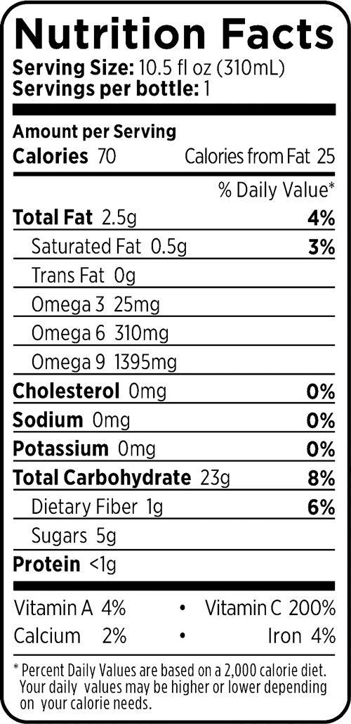 100 Strawberry + Lemon + Açaí Berry Nutrition Facts