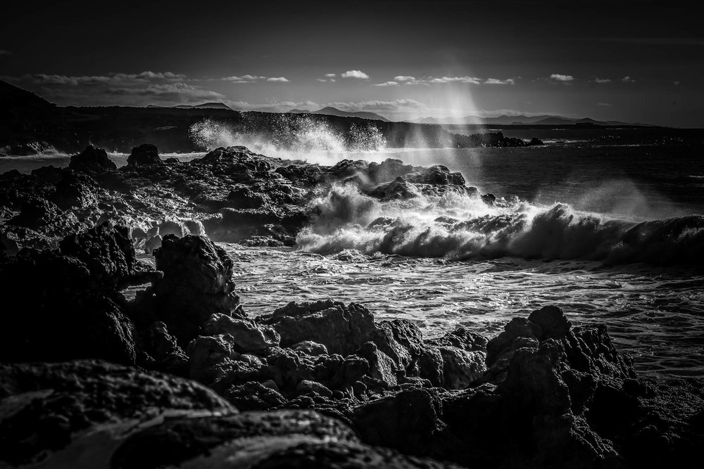 Rough sea in Lanzarote