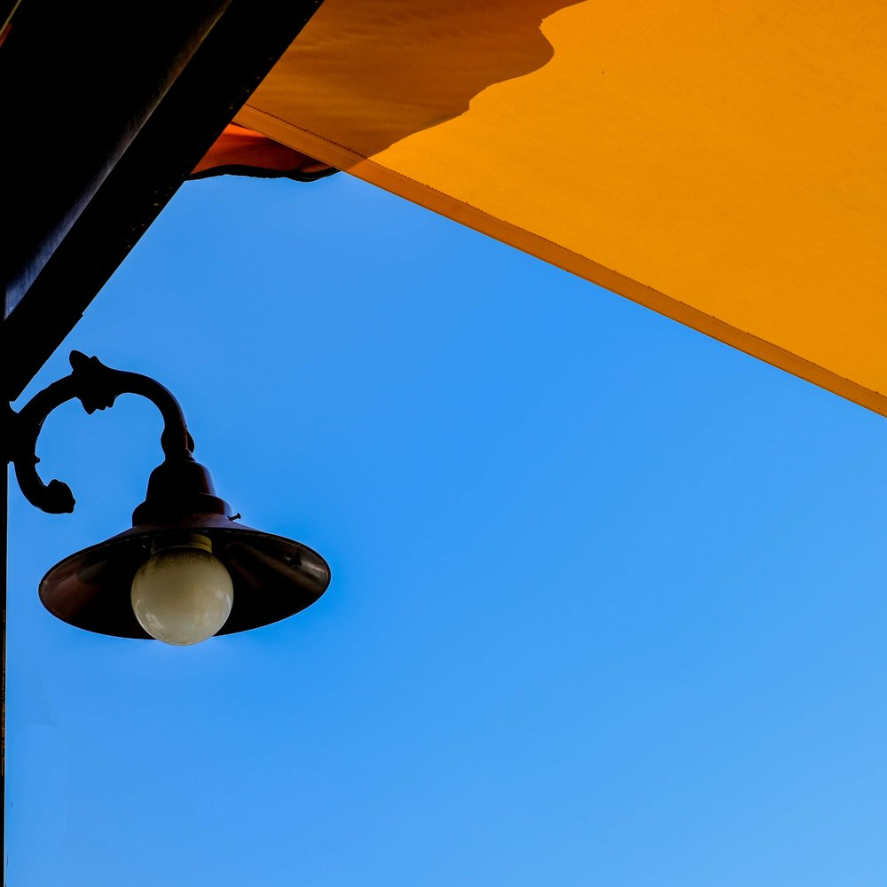 Yellow Sunshade and light - Gulluk Turkey