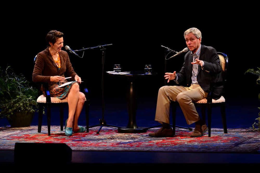 Word of Mouth's Virginia Prescott interviews Carl Hiaasen for Writers on a New England Stage