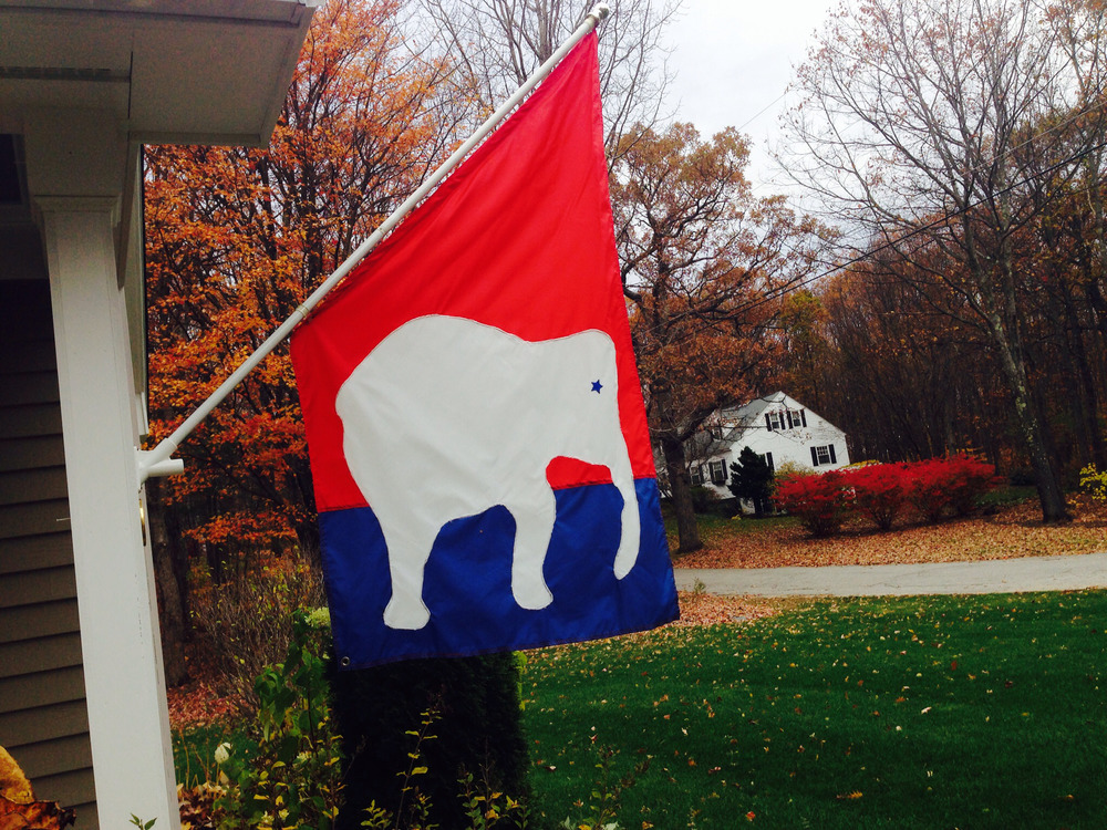 Political colors fly in Hopkinton, 2014