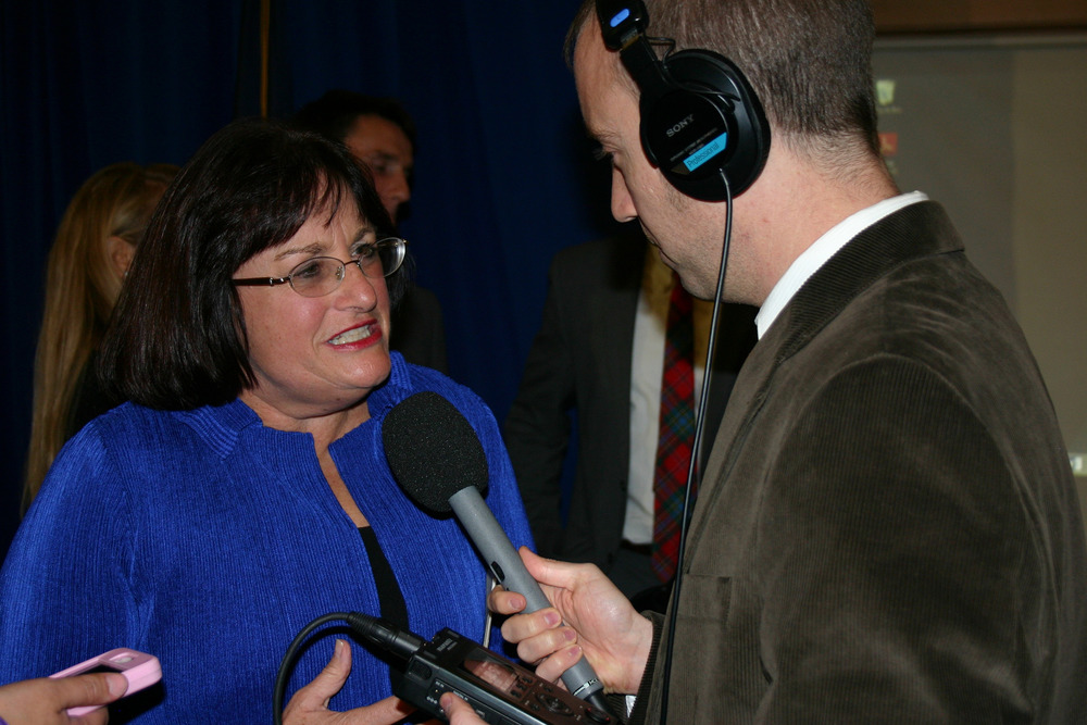 Jack Rodolico interviews Congresswoman Annie Kuster on election night, 2014