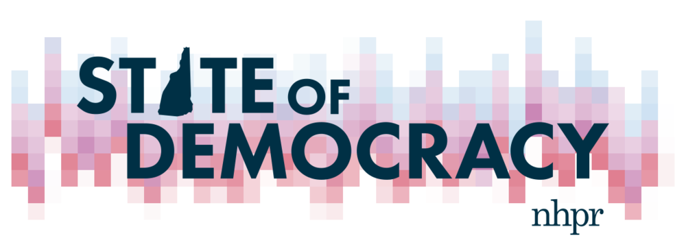 State of Democracy logo by Sara Plourde for NHPR