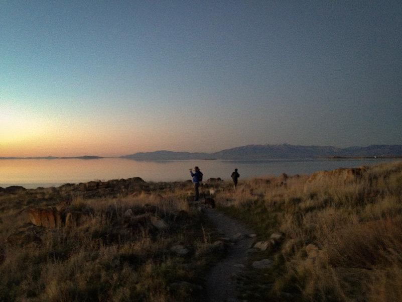 Sunset hike on Antelope Island.