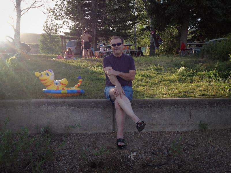 Randy at the reservoir.
