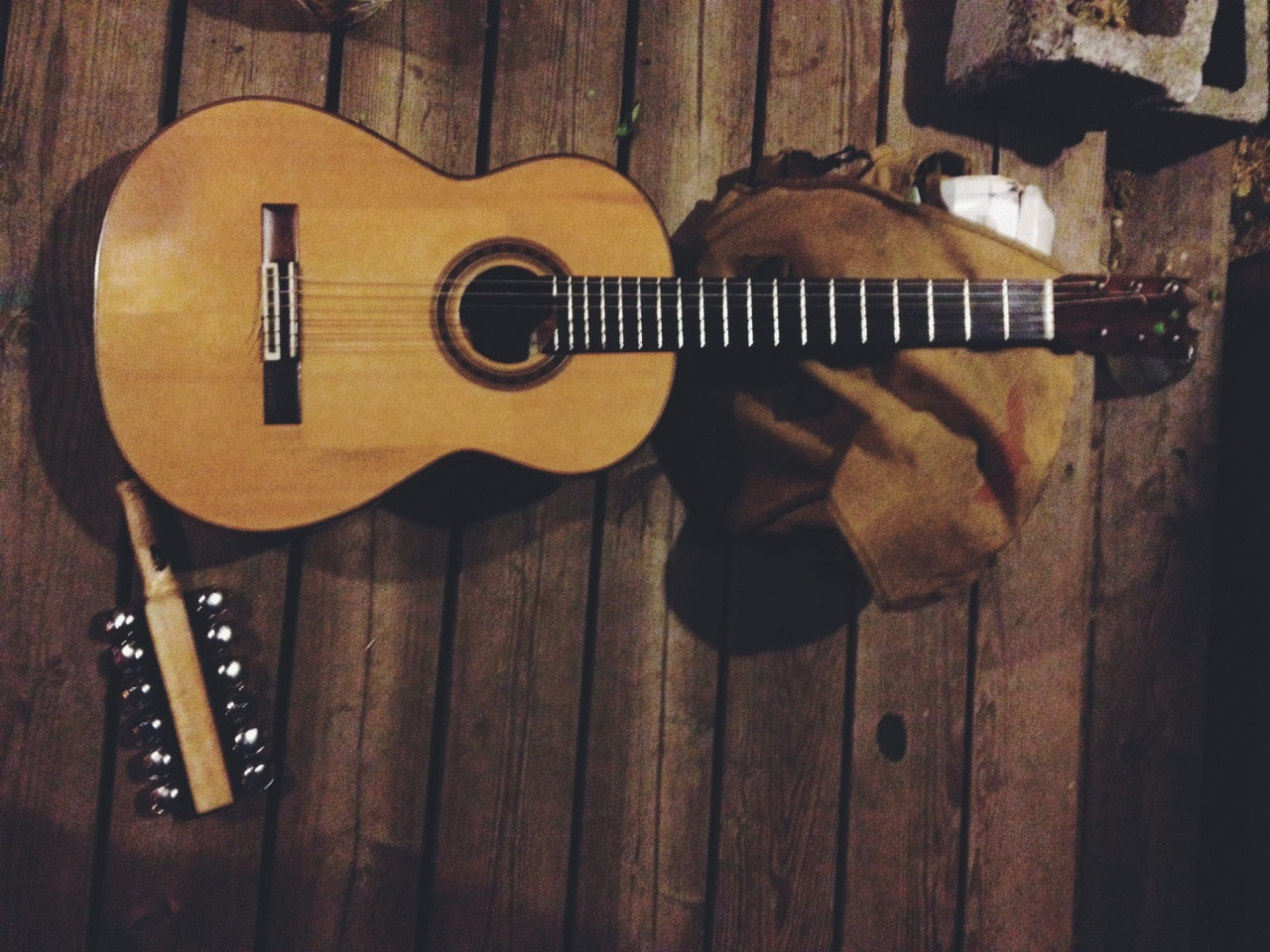 Jonathan Richman's guitar and bells.