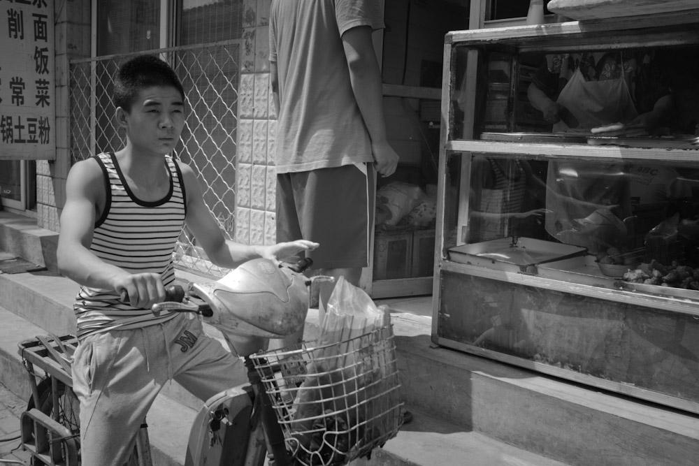 Bike errand.   Beijing, China.