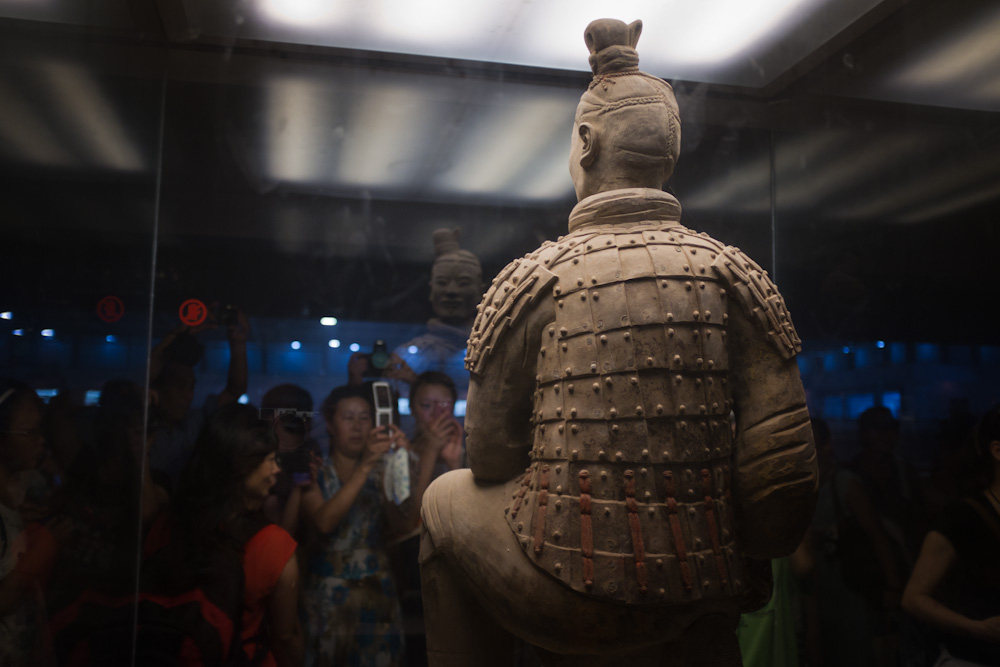 Everyone wants to see the terracotta soldier.   Xi'an, China.