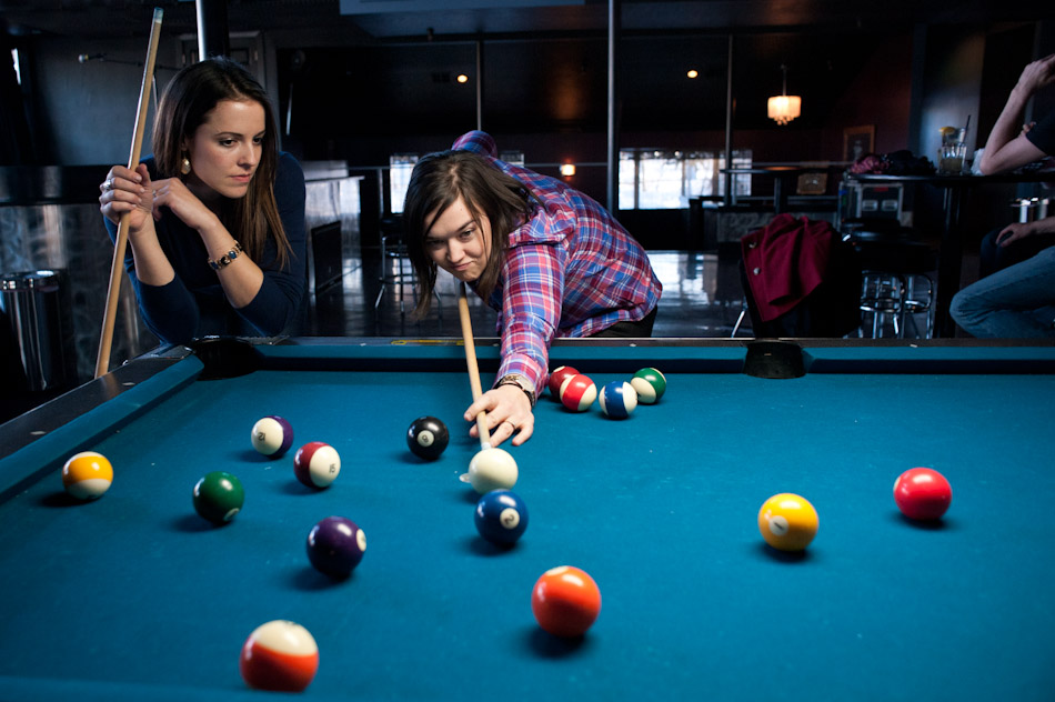 Hailey and Jess shoot up a game.  Taken for the City Weekly's City Guide.
