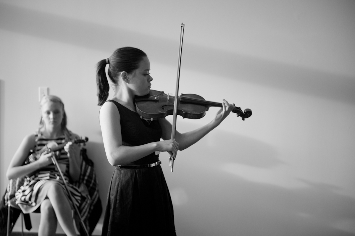 Young violin player at a fundraiser for the Community Foundation of Utah.