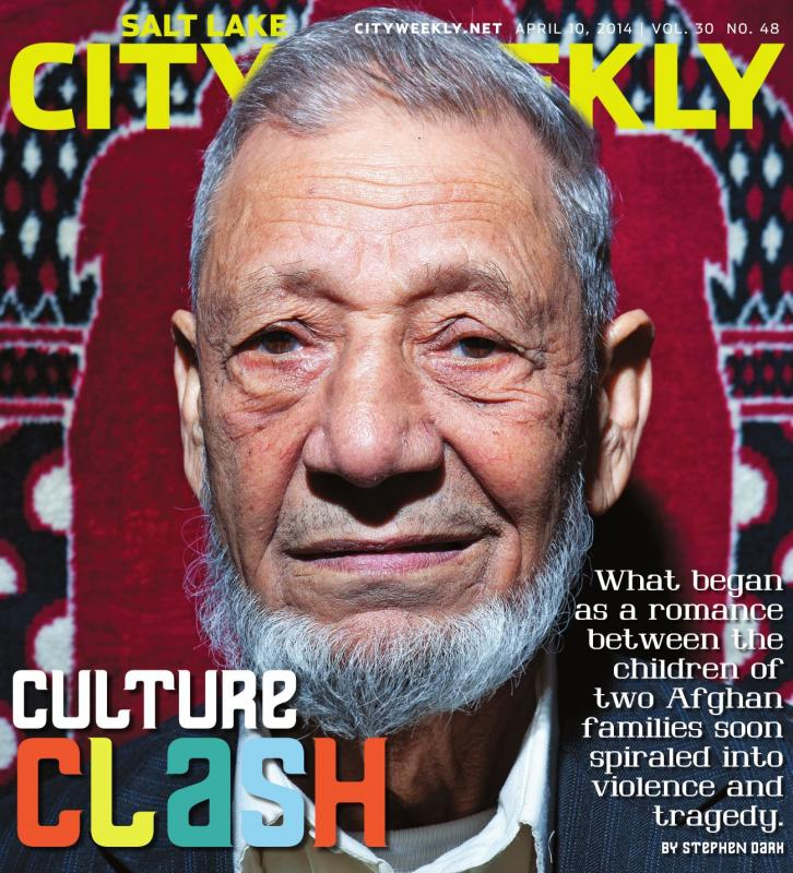 My portrait of Haji Rajimi for this week's issue. The story, by Stephen Dark, is an interesting read about two feuding Afghan families in Salt Lake City.