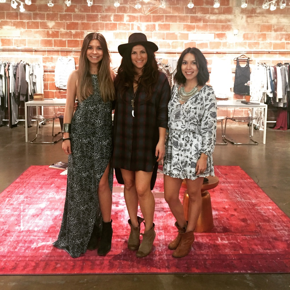 2Fourteen Showroom staff - Leone Islam, Aimee Breeden (owner) and Tiera Gomez