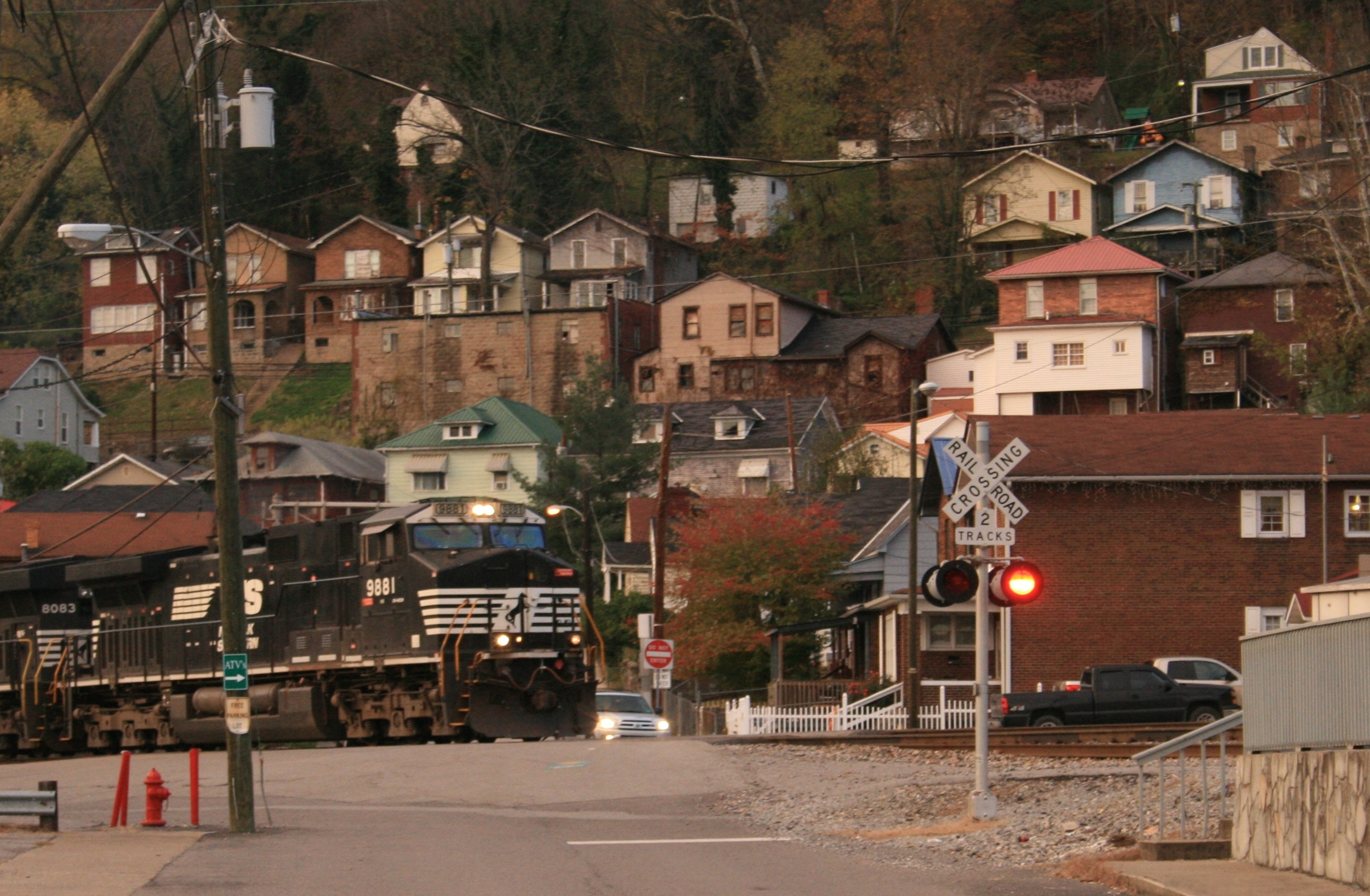 Train Pulling into Williamson, WV