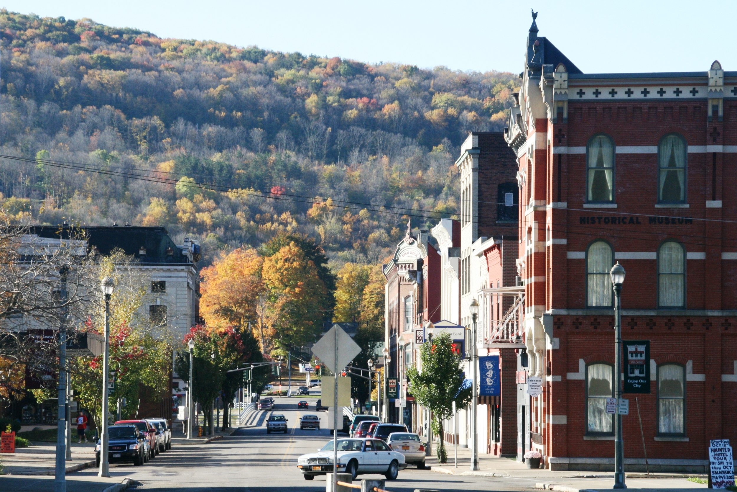 Image of downtown Salamanca, NY