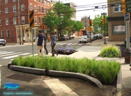 Design Concept for Stormwater Management in Philadelphia Photo Credit: Philadelphia Water Department