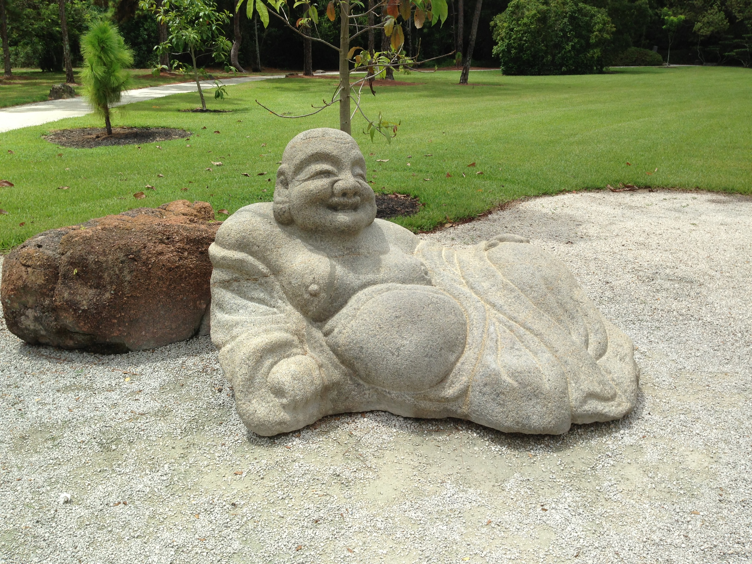 Buddha in repose at Morikami Gardens