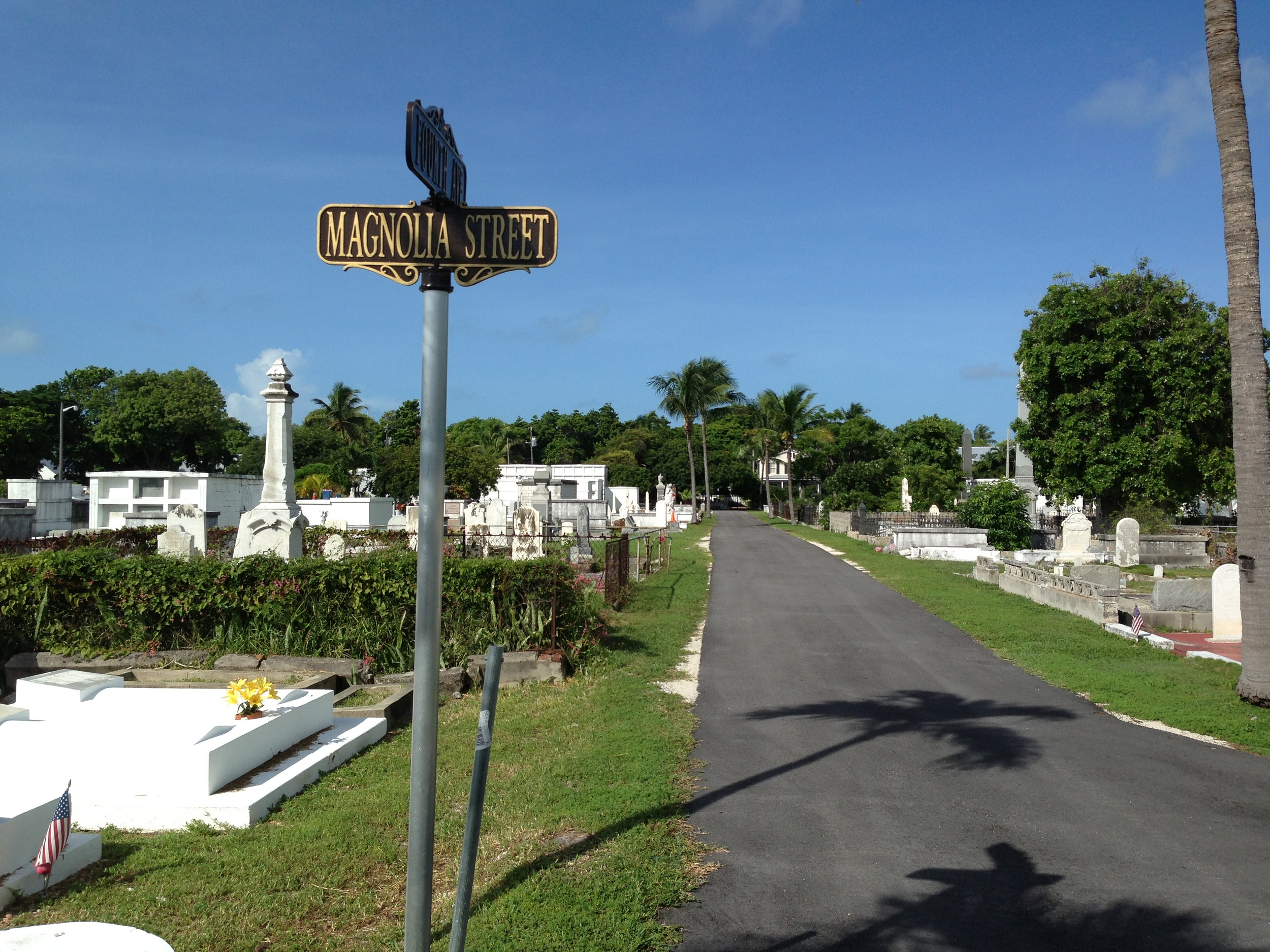"The Key West Cemetery dates to 1847 with 75,000 people interred on 19 acres in the ""dead center"" of Old Town."