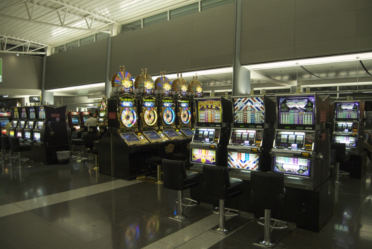 Slot machines fill McCarran Airport in Las Vegas