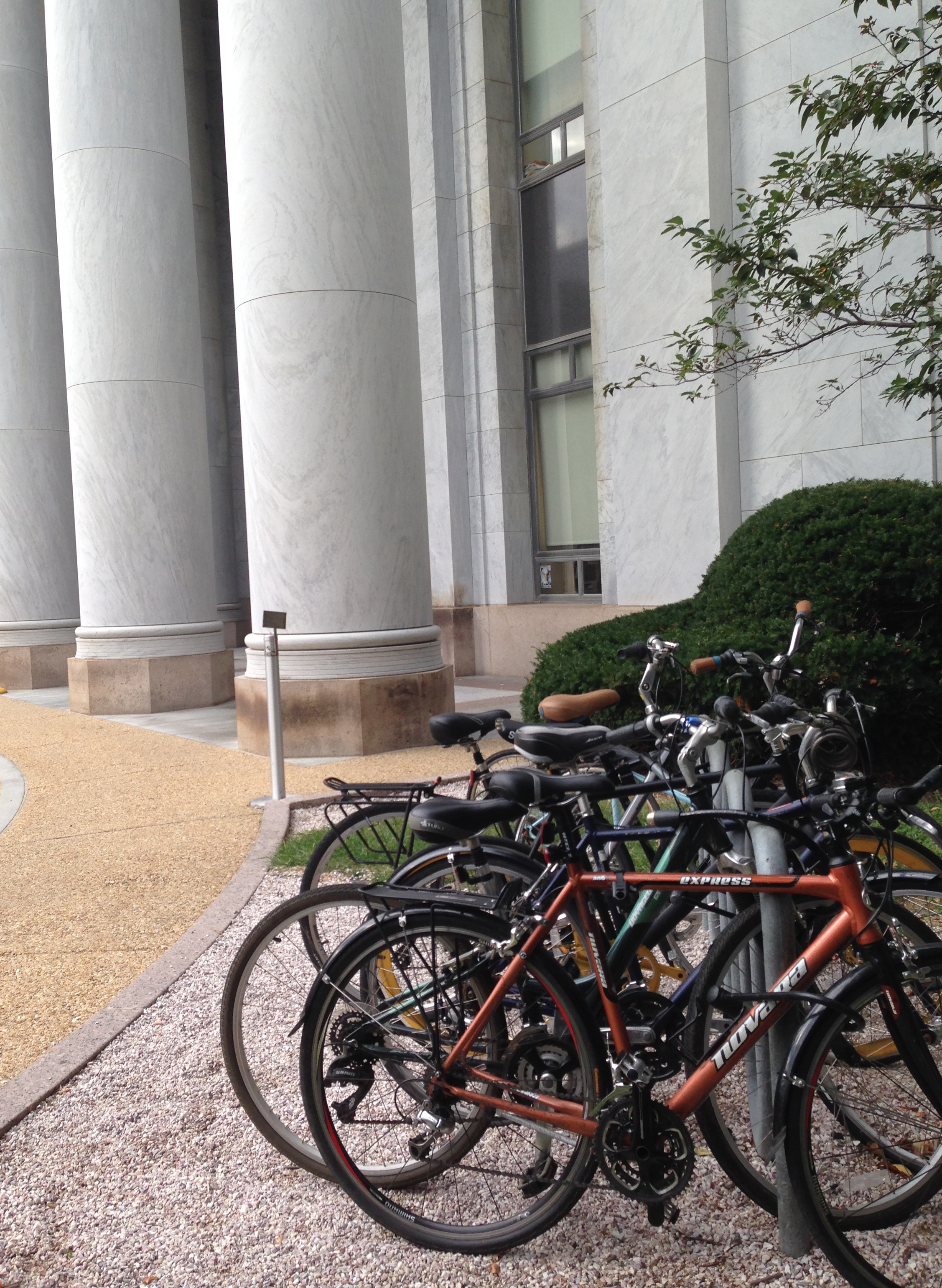Bikes outside the Rayburn House Office Building