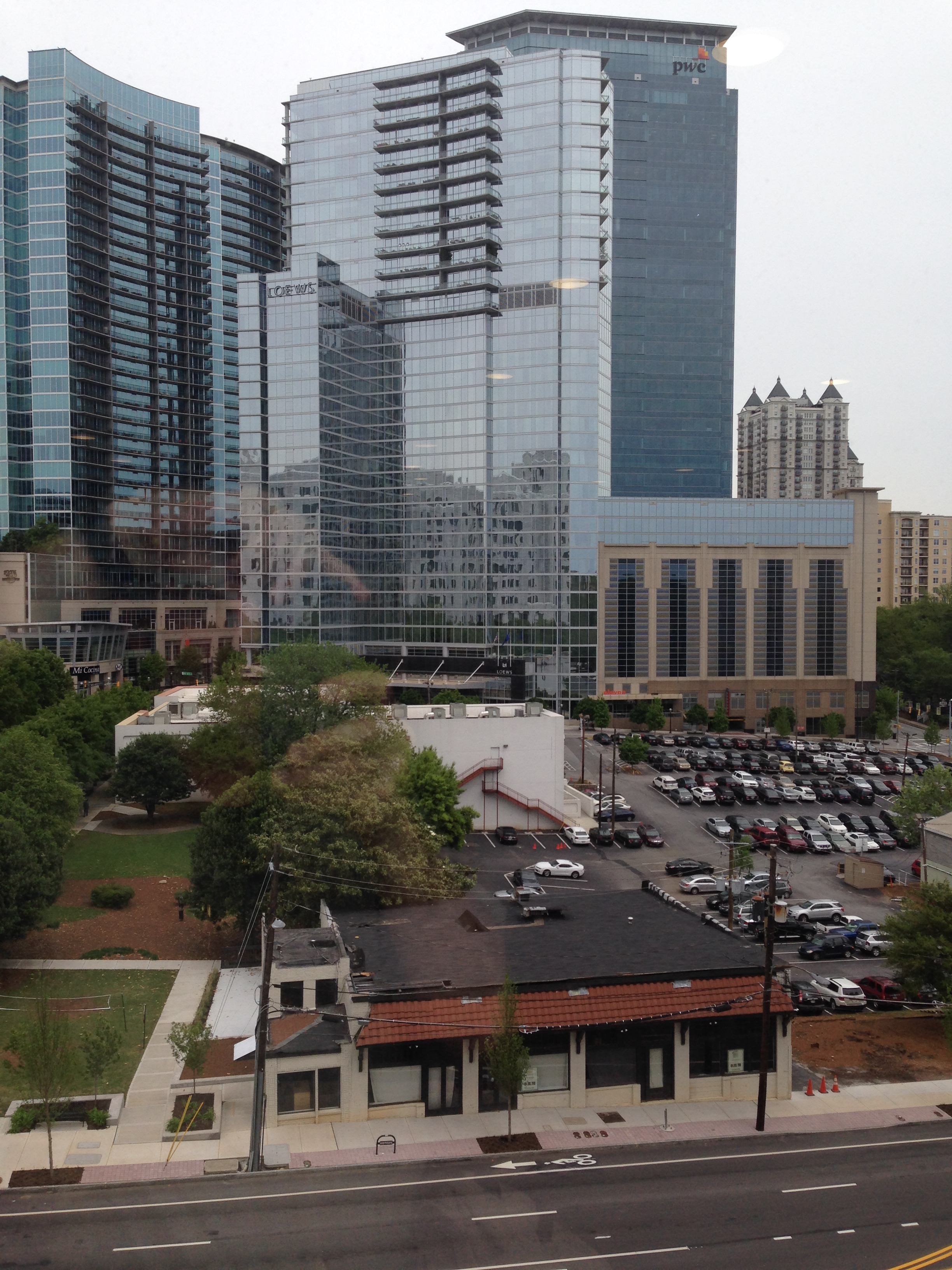 The transformation of Atlanta's Midtown includes infill Transit Oriented Development that will replace this surface parking lot.
