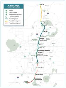 SunRail system map