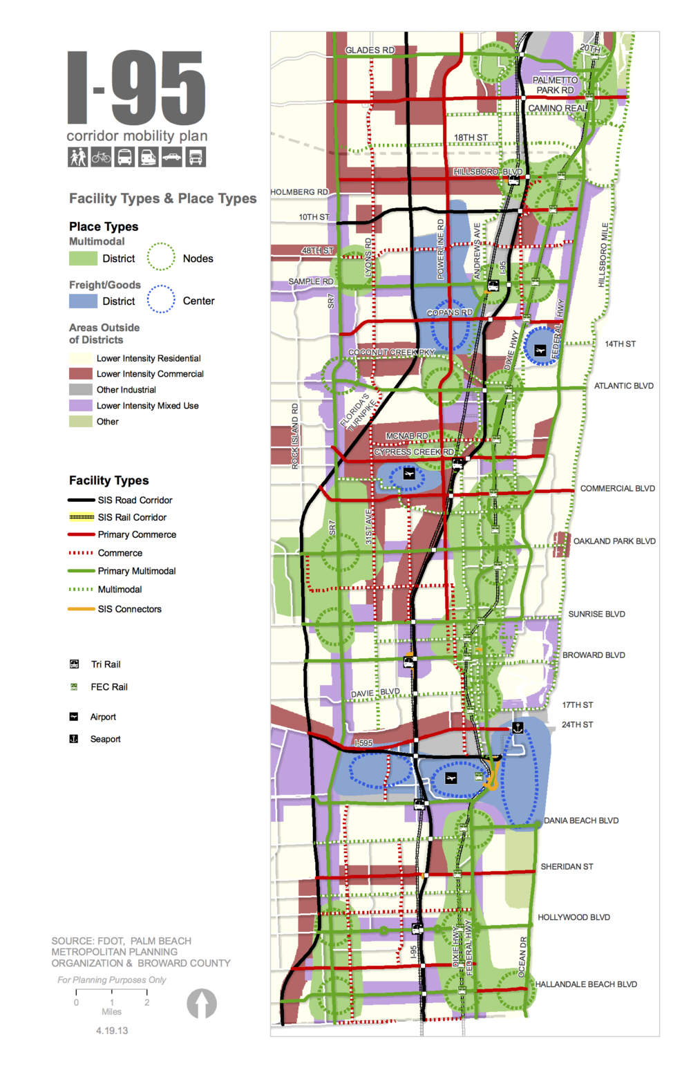 FDOT D I Mobility Plan  Renaissance Planning - Florida map i 95