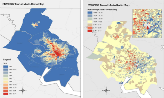 Prior Renaissance Research for MWCOG that Shows Linkage between Transit and Auto