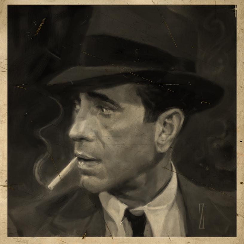 Humphrey Bogart by Dan Zollinger