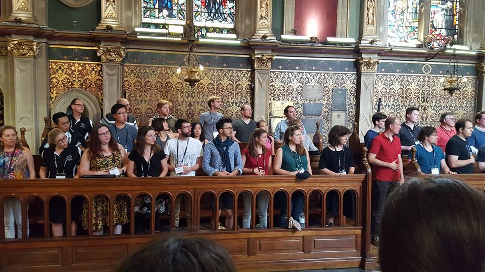 Warm up in Royal Holloway's Chapel - Photo by Bob McCranie