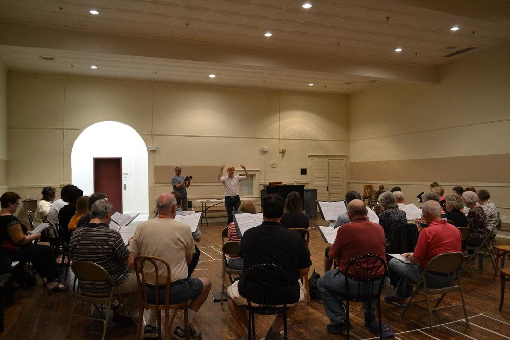 Probe mit den Community Singers