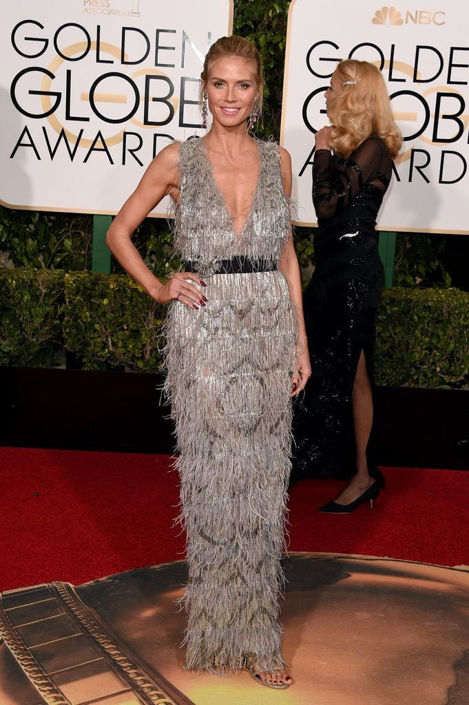 Heidi Klum in a marchesa dress that i would rock on any given sunday