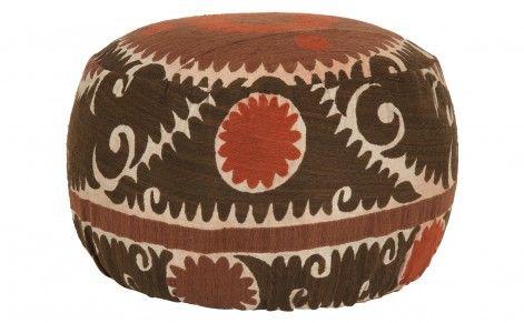 suzani pouf